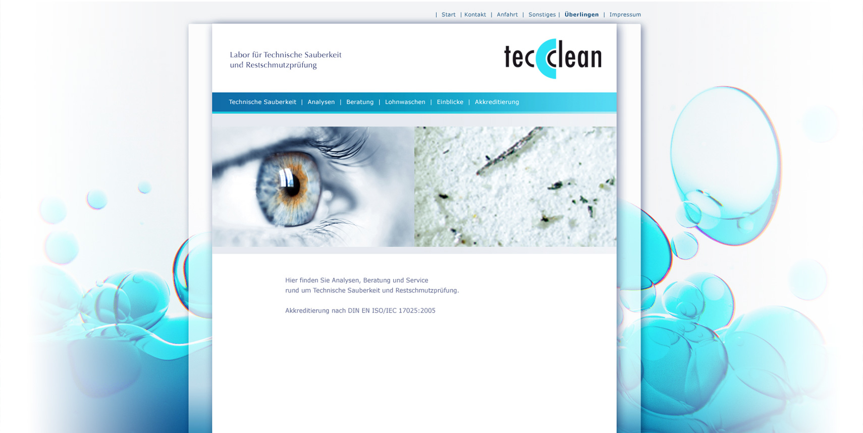 Corporate Design und Website für TecClean